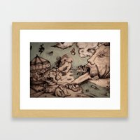 Deadly Sins Valley Framed Art Print