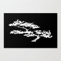 Bonzai Tree Reversed On … Canvas Print