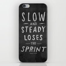 slow and steady loses the sprint blk&wht iPhone & iPod Skin