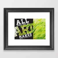 Art Grows Framed Art Print
