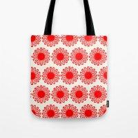 Vintage Flower-Red Tote Bag