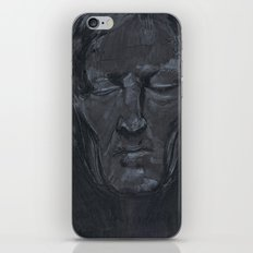 Portrait of man with eyes closed iPhone & iPod Skin