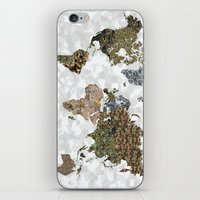 CAMO WORLD ATLAS MAP (WH… iPhone & iPod Skin