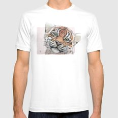 Tiger Cub 887 SMALL Mens Fitted Tee White