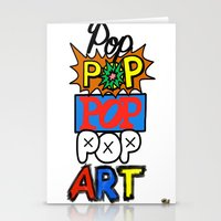 pop art Stationery Cards featuring Pop, Pop, Pop, Pop Art by Raheem Nelson