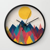 Uphill Battle Wall Clock