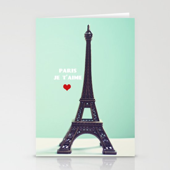 Paris Je T'aime Stationery Card