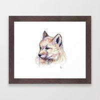 Baby Fox Framed Art Print