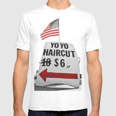 Yo Yo haircut Mens Fitted Tee White SMALL