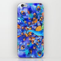 Sapphire And Gold Peacoc… iPhone & iPod Skin