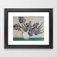 Irises, After Van Gogh Framed Art Print