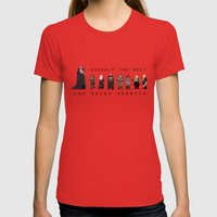 Gandalf The Grey And Sev… Womens Fitted Tee Red SMALL