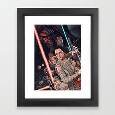 The Force Awakens - Movi… Framed Art Print