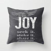 JOY...share It! Throw Pillow