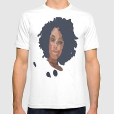 Natural Hair  White SMALL Mens Fitted Tee