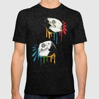 Skull Candy Macaws Mens Fitted Tee Tri-Black SMALL
