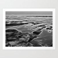 Abstract coastal rock formations in Queensland Art Print