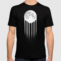 Moon-City Mens Fitted Tee Black SMALL