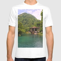 Railroad station White SMALL Mens Fitted Tee