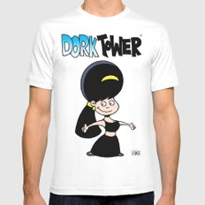 DORK TOWER - Gilly SMALL White Mens Fitted Tee