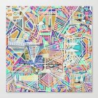 Geometric Abstract Lines Labirinth  Canvas Print