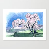Canvas Print featuring Hillside Blossom by Shannon Sutton