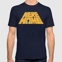 Home Mens Fitted Tee Navy SMALL