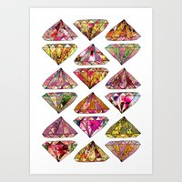 These Diamonds Are Forever Art Print
