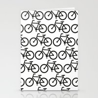 Bicycle Stamp Pattern - … Stationery Cards