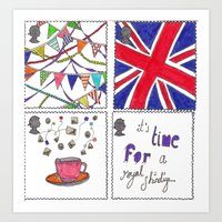 Art Print featuring A Royal Shindig by PintoQuiff