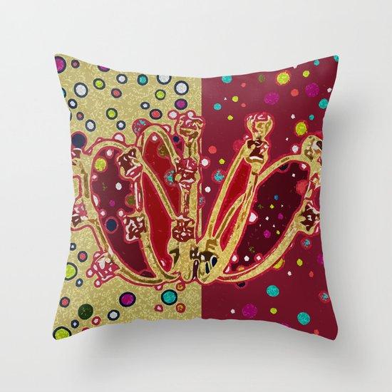 5 Golden Rings - 12 Days of Christmas Series Throw Pillow