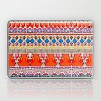 Watercolour Red Aztec Laptop & iPad Skin