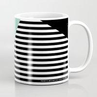 Mint Color Block with Stripes // www.penncilmeinstationery.com Mug