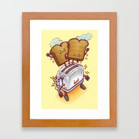 The ToasterBot Framed Art Print