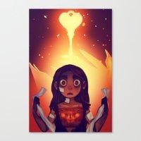Wrathia's Heart Canvas Print