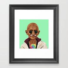 Hipstory -  Mahatma Gand… Framed Art Print
