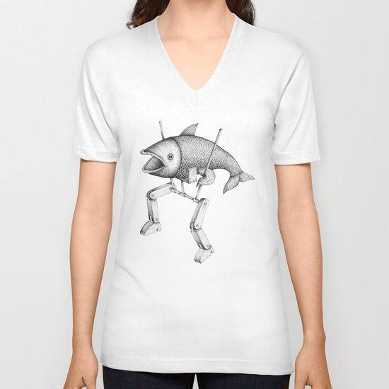 'Evolution I' V-neck T-shirt