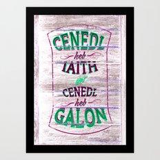 Cenedl Art Print