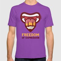 Freedom Mens Fitted Tee Ultraviolet SMALL