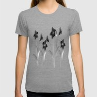 Schwarze Lilien - Black Lilies Womens Fitted Tee Tri-Grey SMALL