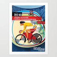 UCI Melbourne World Cycling Championships Poster with Text Art Print