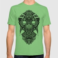 Meditation II Mens Fitted Tee Grass SMALL