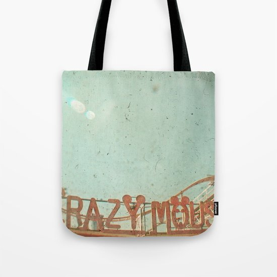 Crazy Mouse Tote Bag