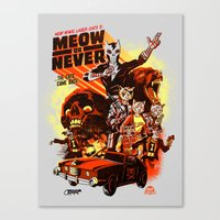 New Wave Laser Cats 2: M… Canvas Print