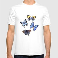 Pattern With Butterflie… Mens Fitted Tee White SMALL