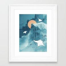 When Earth Rattled  Framed Art Print