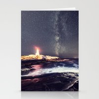 Lighthouse in the Summer Sky Stationery Cards