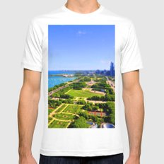 Grant Park White SMALL Mens Fitted Tee