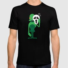 Swamp Thing / Ghostface Black Mens Fitted Tee SMALL