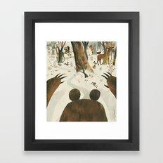 Along Came A Bear Framed Art Print